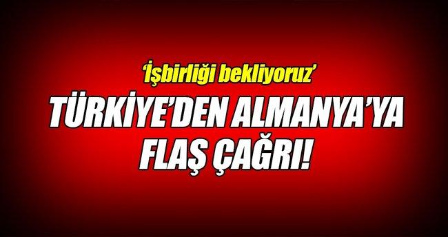 Türkiye'den Almanya'ya çağrı!