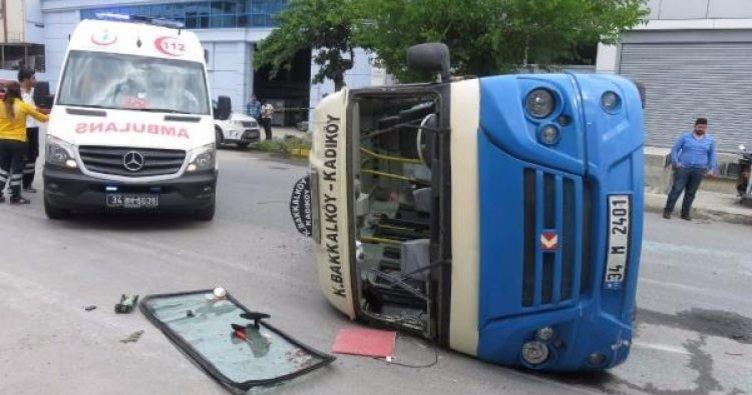 Son dakika: Ataşehir'de yolcu minibüsü dehşeti! Yaralılar var