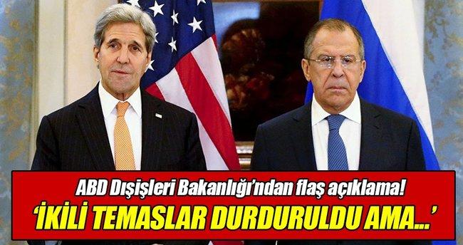 ABD ve Rusya görüşmeyi sürdürüyor!