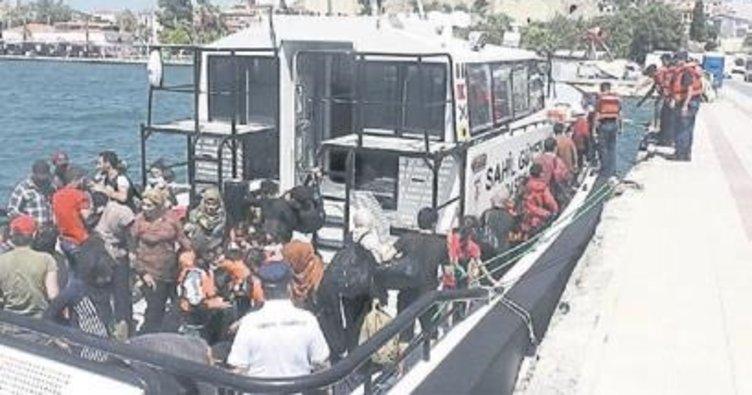 Ege Denizi'nde 56 göçmen yakalandı