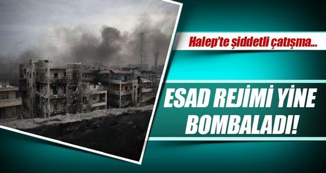 Halep'te muhaliflere ağır bombardıman