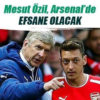 """""""Mesut Özil 10 yıl daha Arsenal'de oynar"""""""