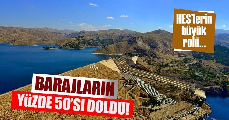 Barajların yüzde 50'si doldu