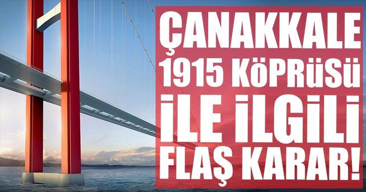 Başbakanlıktan '1915 Çanakkale Köprüsü' genelgesi