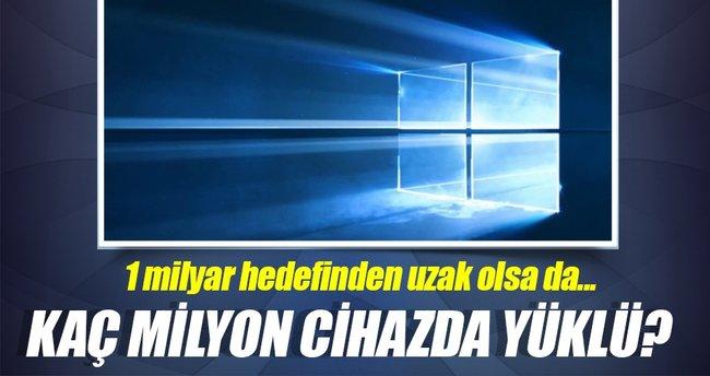 Windows 10 kaç milyon cihazda yüklü?