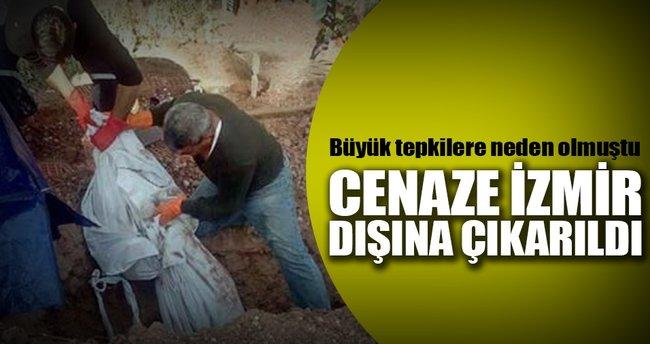 Tepkiler üzerine PKK'lı mezardan çıkarıldı
