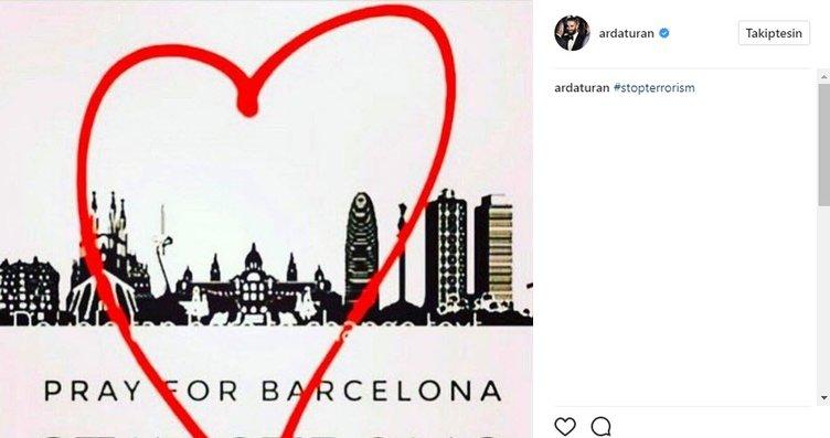 Barselona'daki saldırı sonrası Arda Turan ve...