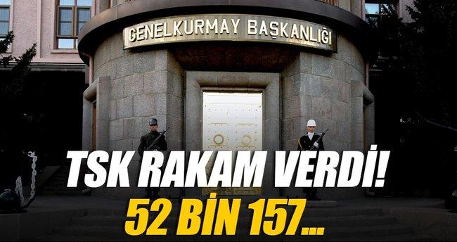 Sınırlarımızı 52 bin 157 personel koruyor