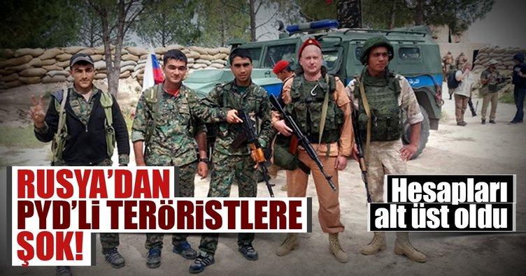 Rusya'dan PYD'li teröristlere şok!