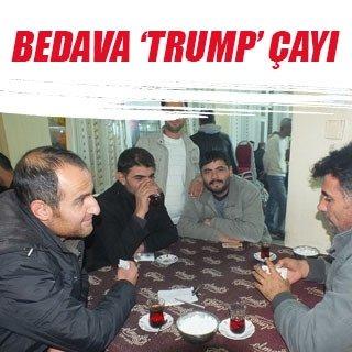 Bedava 'Trump' çayı