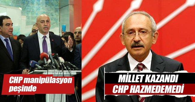 Millet kazandı CHP hazmedemedi