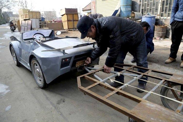 Torununa 'Lamborghini' otomobil yaptı