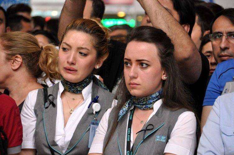 Atatürk Havalimanı'nda en acı tören
