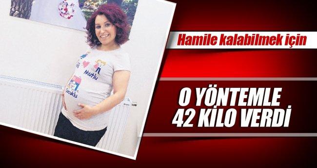 42 kilo verip hamile kaldı