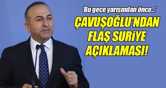 Çavuşoğlu'ndan flaş Suriye açıklaması!