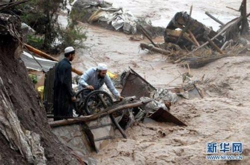 Pakistan'da evler sular altında kaldı