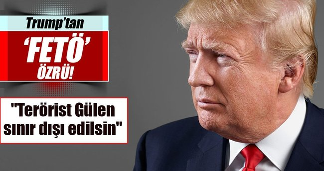 Trump'ın mitinginde FETÖ protestosu