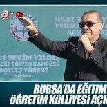 Cumhurbaşkanı Erdoğan Bursa'da konuşuyor - CANLI