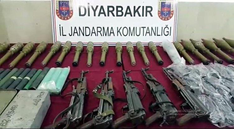 PKK operasyonunda ele geçirilen mühimmat