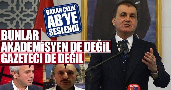 AB Bakanı Ömer Çelik: Bunlar akademisyen de değil gazeteci de