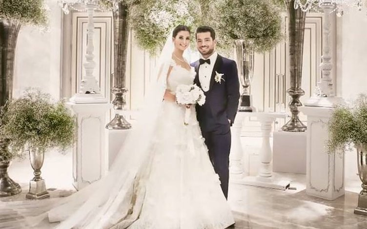 Buse Terim düğün fotoğraflarını ilk kez paylaştı