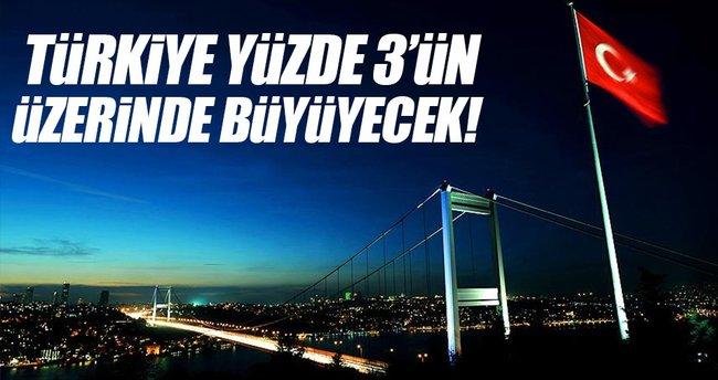 Türkiye bu sene yüzde 3'ün üzerinde büyüyecek