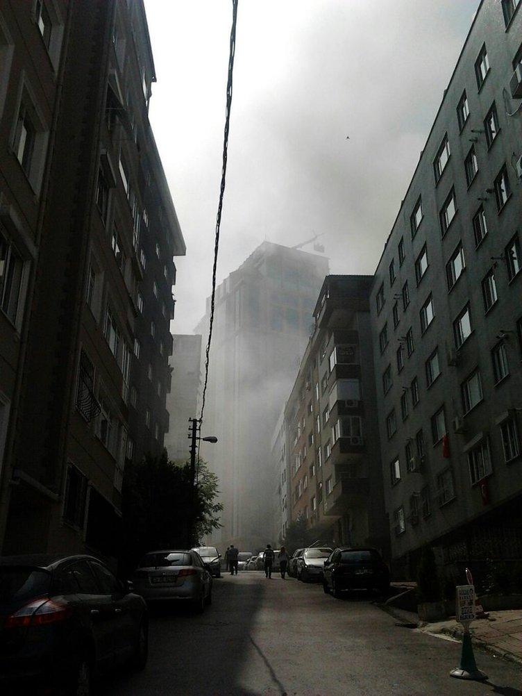 Barbaros Bulvarı'nda yangın
