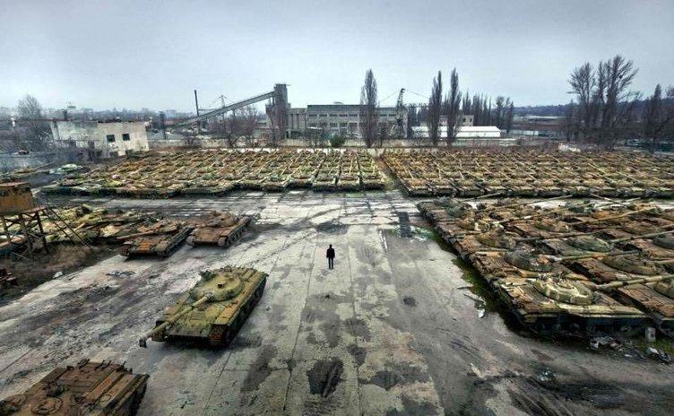 Tank mezarlığı ortaya çıktı