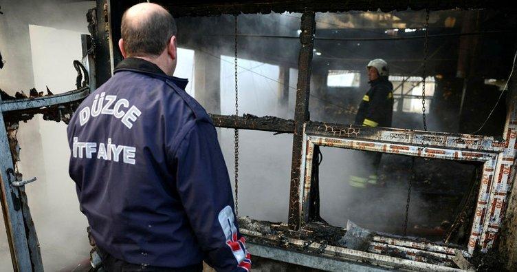Düzce'de tavuk çiftliğinde yangın