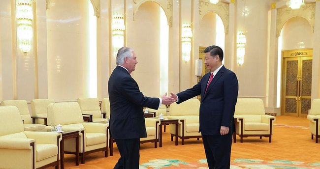 ABD Dışişleri Bakanı Tillerson Çin'de