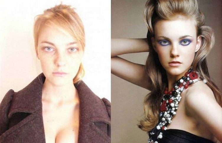 Süpermodellerin makyajsız halleri