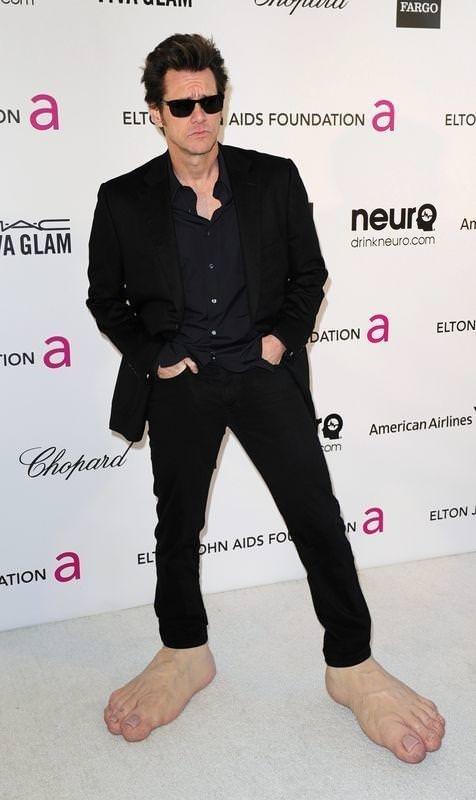 Koca ayak Jim Carrey