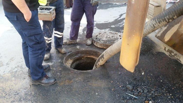 Kanalizasyona atlayan kişinin cesedi çıkarıldı