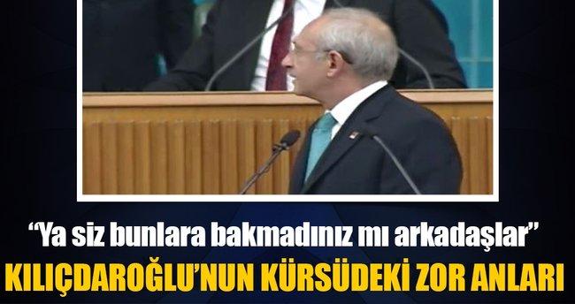 Kılıçdaroğlu konuşamadı