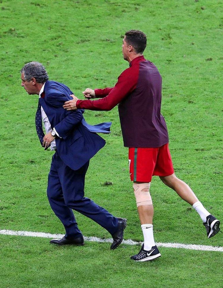 Ronaldo, Portekiz'in ikinci hocası gibi! O kareler..