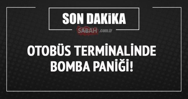 Bursa otobüs terminalinde bomba paniği!