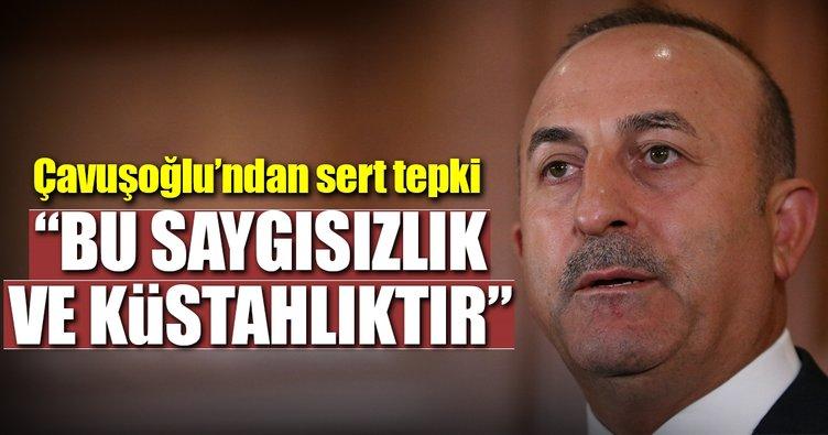 Çavuşoğlu'ndan Rum lidere sert tepki