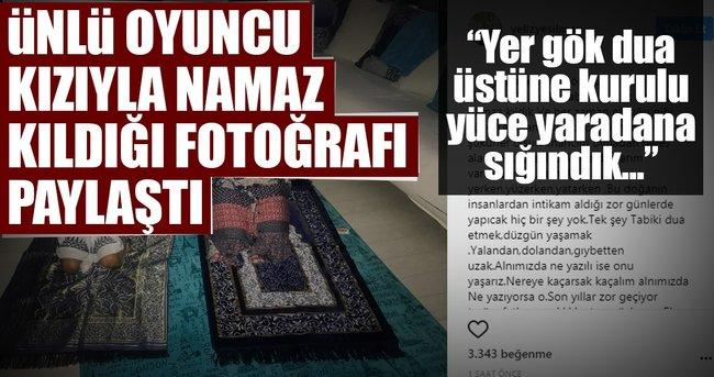 Ünlü oyuncu namaz kılarken fotoğrafını paylaştı