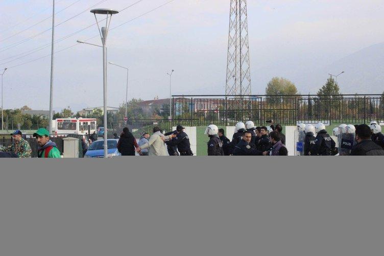 Bursa Zaferspor ile Yalovaspor maçında gerginlik