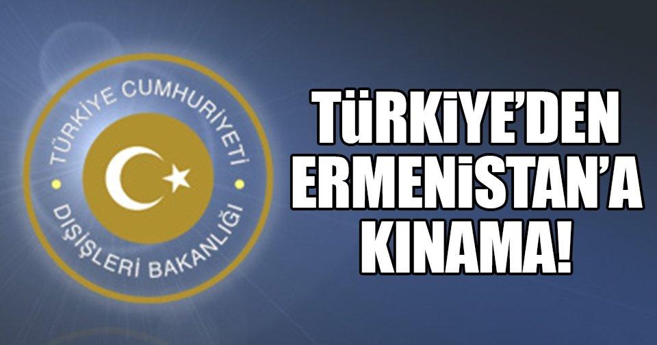 Türkiye'den Ermenistan'ın Azerbaycan'a yönelik saldırılarına kınama!