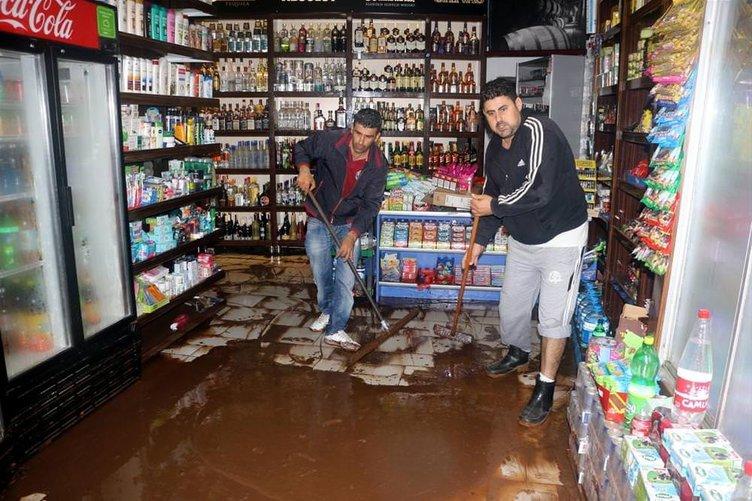 Marmaris'te şiddetli yağış