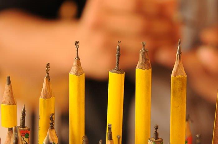 Kalem ucunu sanat eserine dönüştürüyor