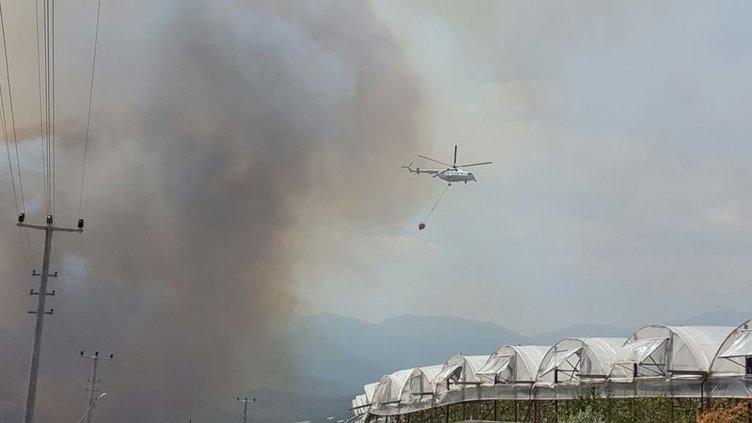 Kumluca'da yangın!