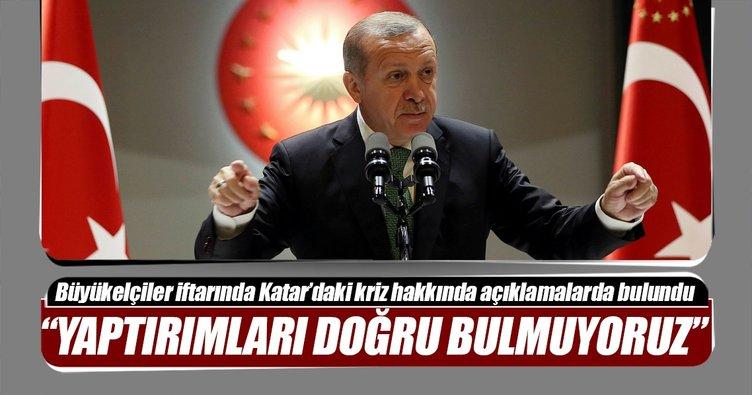 Erdoğan: Katar'a karşı yaptırımları kesinlikle doğru bulmuyorum