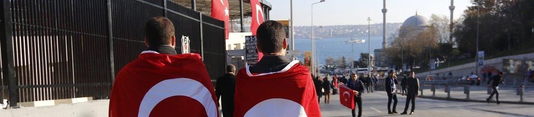 İstanbul'da terör protestosu