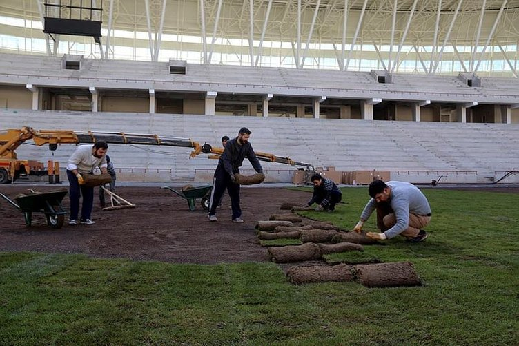 Türkiye'nin ilk ekolojik stadında sona gelindi