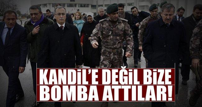 Kandil'e atmadıkları bombayı bize attılar