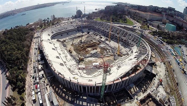 Vodafone Arena'nın yüzde 90'ı tamamlandı