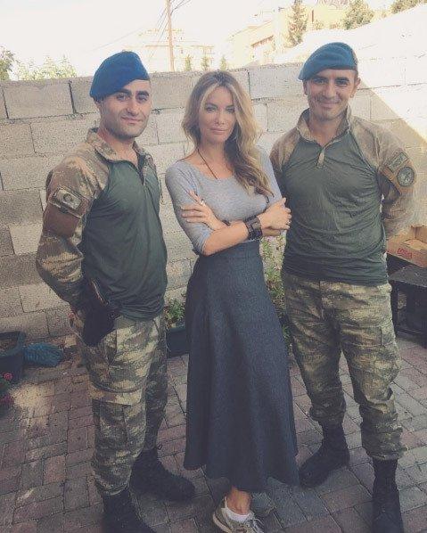 Karkamış sınırındaki askerlere destek oldu!