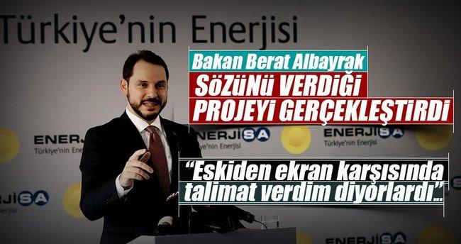 Enerji Bakanı Berat Albayrak söz verdiği projenin açılışını yaptı